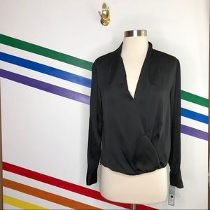 NEW Apt. 9 splice flowy career silky blouse